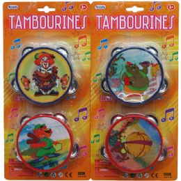 "48 of 2pc 4"" Tambourine Set In Blister Card"