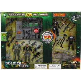 24 of Soldier Vs Villains Play Set In Window Box