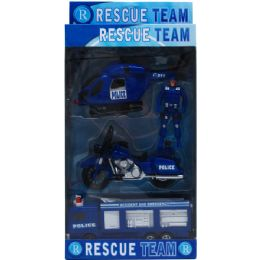 18 of 4pc Police Rescue Team In Pegable Window Box