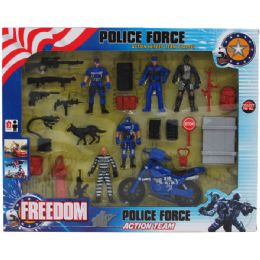 18 of Police Force Play Set In Window Box