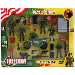 18 of 24pc Army Force Play Set In Window Box