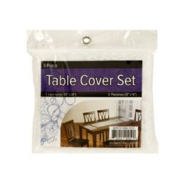 24 of Lace Table Cover Set With Placemats