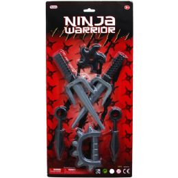 36 of 6pc Ninja Warrior Play Set In Blister Card