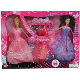 """24 of 2pc 11"""" Bendable Doll Set W / 5 Extra Outfits In Window Box"""