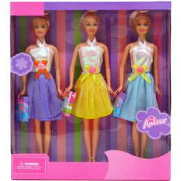 "24 of 3pc 12"" Bendable Dolls Set In Window Box"