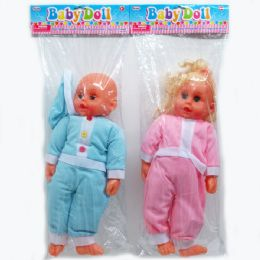 """24 of 18"""" Baby Doll W/ic Sound In Poly Bag W/header, Assorted"""