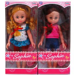 """18 of 12"""" Sophie Doll In Window Box"""