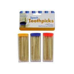 108 of Travel Size Toothpick Containers With Toothpicks