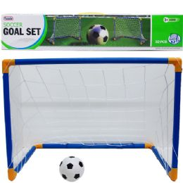 12 of 2pc 25l*18h Soccer Play Set In Color Box