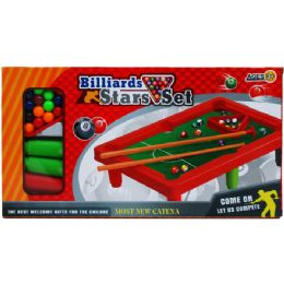 """24 of 10.5""""x7"""" Pool Table Play Set In Color Box"""