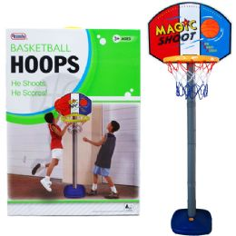 """6 of 60""""h Plastic Basketball Play Set W/21"""" Backboard In Color Box"""