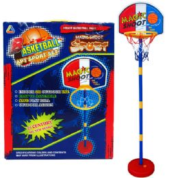 """12 of 60""""h Plastic Basketball Play Set W/15"""" Backboard In Color Box"""