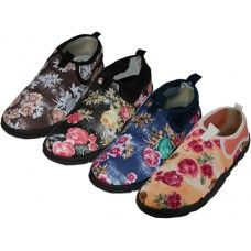 """36 of Women's Floral Printed """"wave"""" Water Shoes"""
