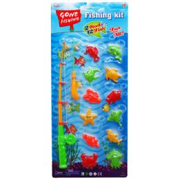 24 of 14pc Gone Fishin Game Play Set W/two Rods In Blister