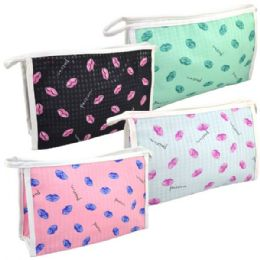 48 of Cosmetic Bag Assorted Colors Large