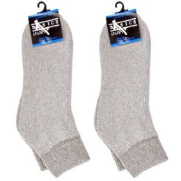 120 of Diabetic Ankle Socks Gray 10-13