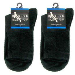 120 of Diabetic Crew Socks 10-13 Black Basics Singe Pair