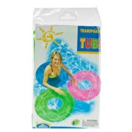 24 of Inflatable Translucent Swim Rings.