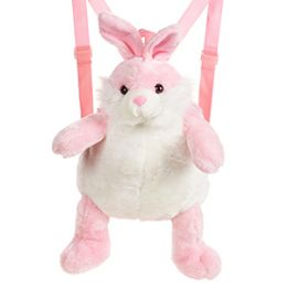 24 of Plush Pink Rabbit Backpacks