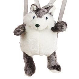 24 of Plush Husky Backpacks
