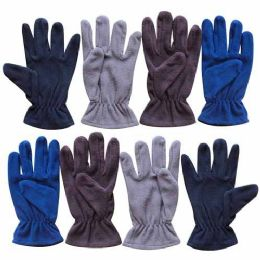 60 of Wholesale 9.5 Mens Assorted Fleece Glove 4 Colors