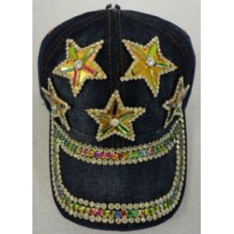 24 of Denim Hat With Bling *gold [5 Stars]
