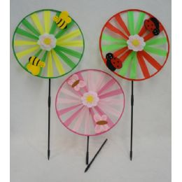 """36 of 13"""" Round Wind Spinner [felt Bug/bee/butterfly]"""