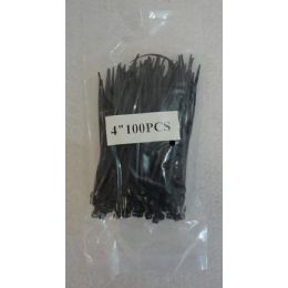 "48 of 100 Piece 4"" Cable Ties [black]"