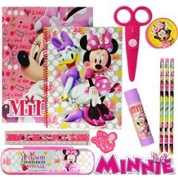 12 of Disney's Minnie Mouse 11-Piece Value Playpacks.