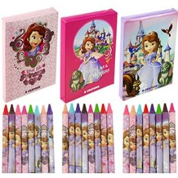 24 of 8 Piece Disney's Sofia The 1st CrayonS- 3 Pack.