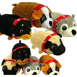 72 of Mini Plush Stackable Dogs.