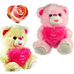 """24 of Plush """"happy Mother's Day """" Heart Bears"""