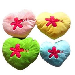 """30 of Plush Heart Embroidered With """"love"""