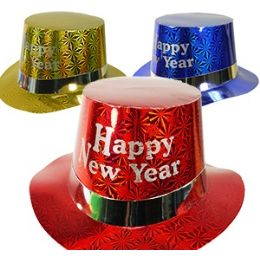 100 of Paper Happy New Year Hats.