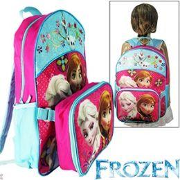 12 of 2-IN-1 Disney's Frozen Lunch Box & Backpacks.