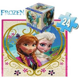 24 of Disney's Frozen Cube Jigsaw Puzzles.