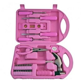 24 of 30 Piece Pink Tool Sets