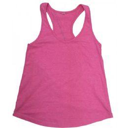 48 of Ladies Neon Pink Racer Back Tank Tops
