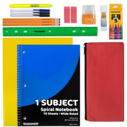 24 of 20 Piece School Supply Kit