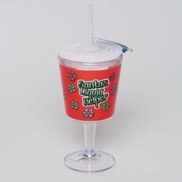 20 of Goblet Insulated 12oz W/straw Santas Liquid Helper
