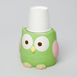48 of Cup Dispenser Love And Nature Owl Resin Rubber Finish