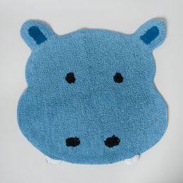 20 of Bathroom Rug Safari Tufted Blue Hippo