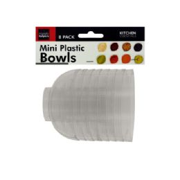 72 of Clear Mini Condiment Bowls Set
