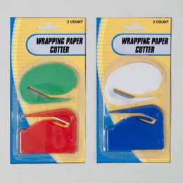 96 of Wrapping Paper Cutter 2pk 2styles/colors/pk 12pc