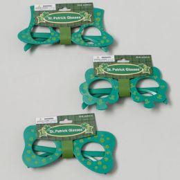 72 of St Patricks Novelty Glasses 3ast Styles/green Plastic St Pat Barbell Card