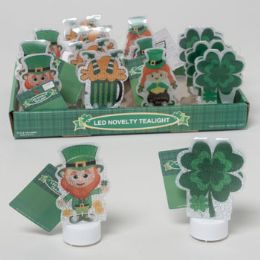 64 of Led Tealight St Pat Novelty 4ast Icons Color Change 16pcpdq St Pat Hangtag