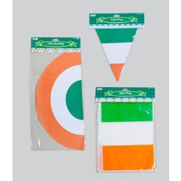 96 of Irish Flag Banner/bunting 3ast Triang/rect Flag & Bunting 12ft Gov Logo Pbh