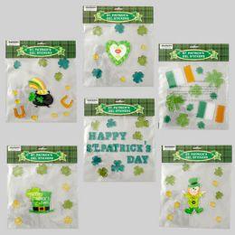 96 of Gel Stickers St Patricks 6asst Designs St Pat Polybag/hdr
