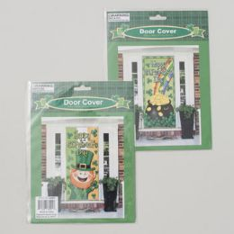 96 of Door Cover St Patricks 30x60in 2asst Prints Leprechaun/bucket St Pat Polybag Insert