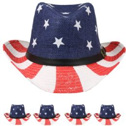 24 of American Flag Cowboy Hat